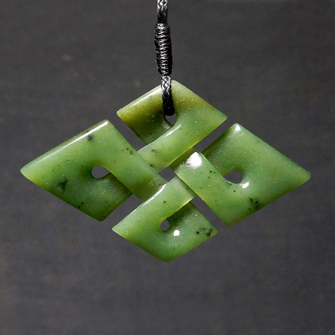 'Quaternary' Jade Celtic Knot