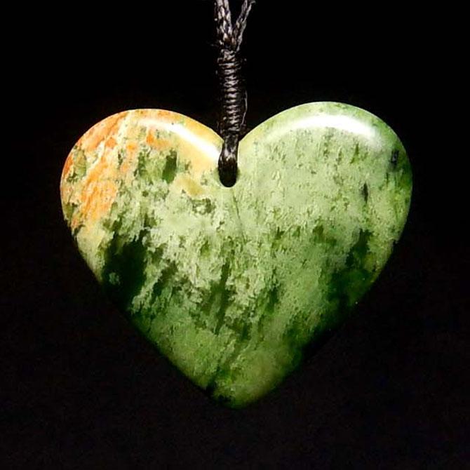 Marsden Jade Heart Pendant