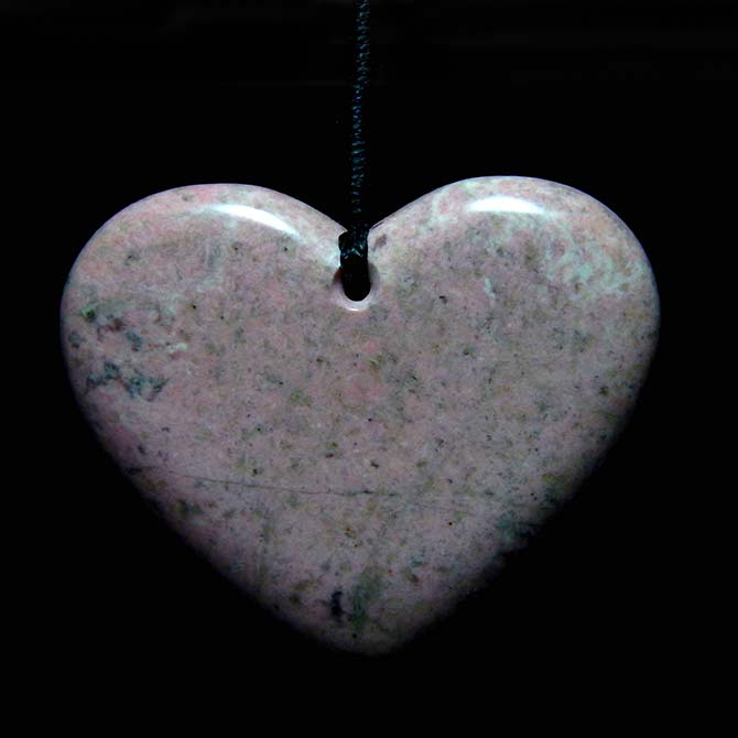 Thulite Heart Pendant