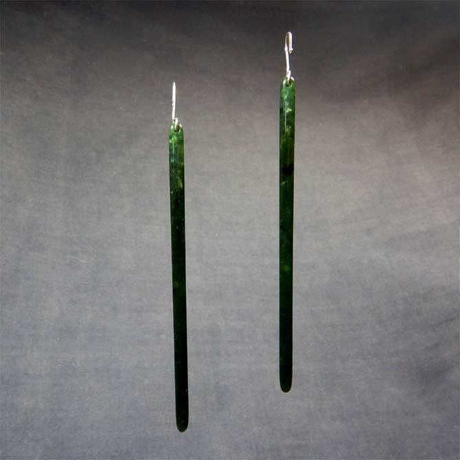 Long Jade Earrings