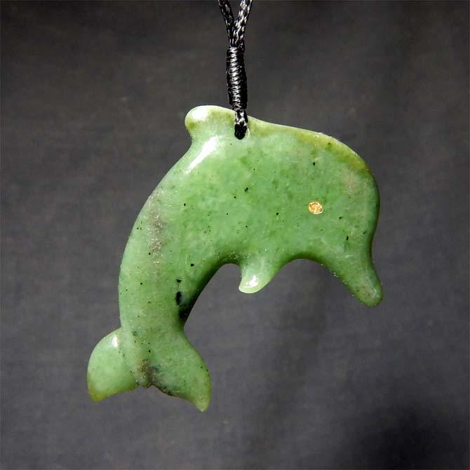 Jade Dolphin Pendant